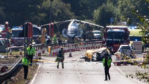 Flygplan kraschade på väg i Brighton