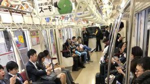 Tokyos tunnelbana idag.