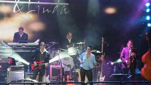San Marino & Linda på scenen