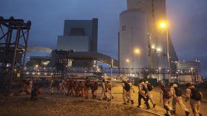 kolkraftverk ockuperas i detteln