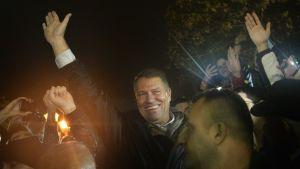 Den liberale borgmästaren Klaus Iohannis vann presidentvalet i Rumänien den 16 november 2014.