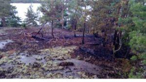 markbrand på Utterö