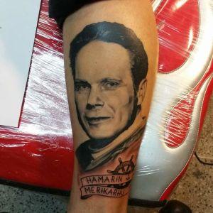 Tatuering av en okänd man