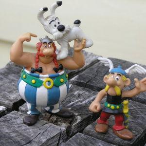Nukkeja Asterix-sarjakuvan pohjalta.