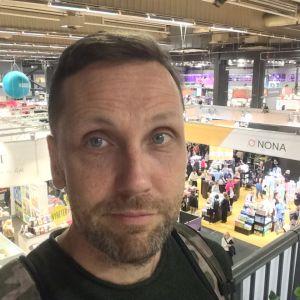 Sebastian Bergholm på Bokmässan i Göteborg 2019.