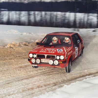 Kuvassa Mikko Kalliomaa ja Timo Rautiainen junioreiden SM-sarjassa 1988.
