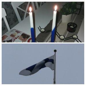 Hissade flaggan i morse, tände två ljus och badade bastu, skriver Jan Ekman som är i Götene i Sverige.