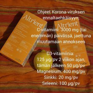 Nordic Clinic i Helsingfors delar ut råd om att vitaminer förebygger virus på sin Facebooksida.