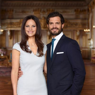 Ruotsin prinssi Carl Philip ja hänen morsiamensa Sofia Hellqvist