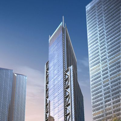 New Yorkiin rakenteilla oleva 3 WTC -pilvenpiirtäjä.