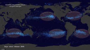 Jätepyörteet valtamerissä