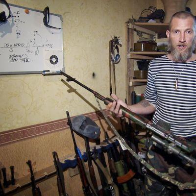 Sasha Dollar separatistitaistelija Donetsk