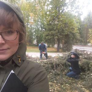 Elossa 24h-sarjan kuvausryhmä Rovaniemellä