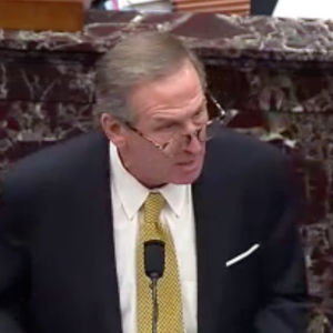 Michael van der Veen i Capitolium under Trumps riksrättsåtal