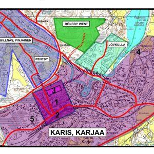 Karta över Karis.