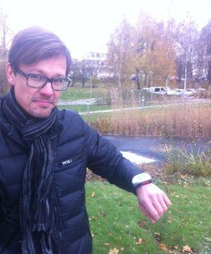 Arimo Koivisto, grundare av Turvallinen Koti som erbjuder GPS-tjänster åt dementiker.