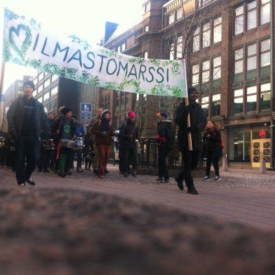 Klimatmarsch i Helsingfors 2015