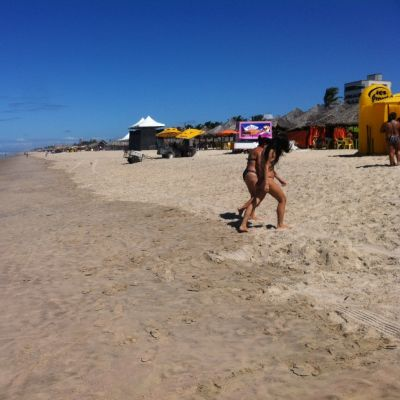 En av de populära stränderna i Fortaleza.