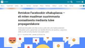 Kuvakaappaus Yle Uutisten jutusta.