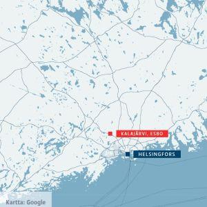 En karta som visar var kalajärvi finns