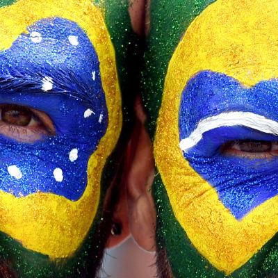 Brasilianska fans under OS i Rio.