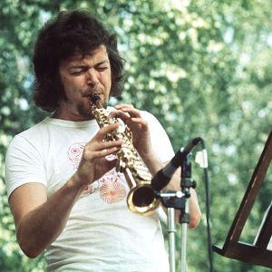 Jazz-muusikko Pekka Pöyry esiintyy Porin Jazzissa 1974.