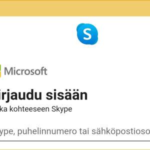 Videokaappaus puhelimen Skype-sovelluksesta: Kirjautumistavat