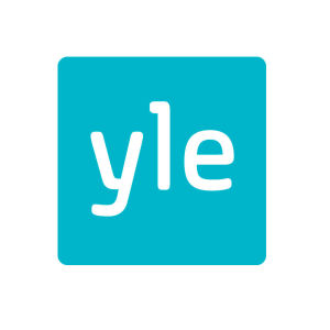Yle's logo in turquoise color.
