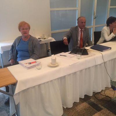 Ålandskommitténs ordförande, president Tarja Halonen i Mariehamn den 16 augusti 2016.
