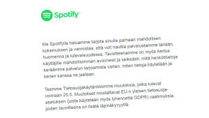 GDPR-brev av Spotify