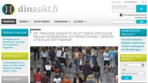 Hemsidan för dinasikt.fi