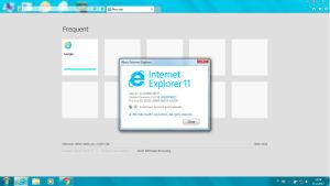 Startvy för Internet Explorer