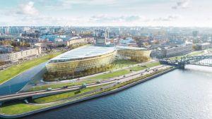Gazproms planerade bygge i S:t Petersburg.
