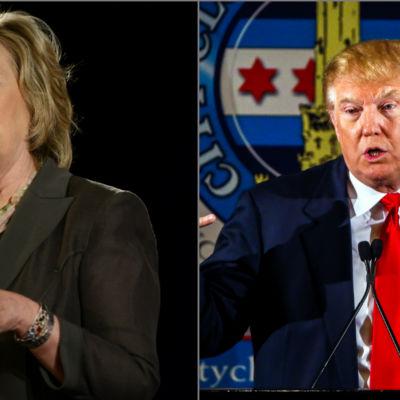 Hillary Clinton och Donald Trump.