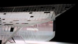 Arkitekten Zaha Hadid planerade ett glansigt genomskinligt hus för Guggenheim i Tokyo
