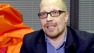 Aki Koponen haastattelukuvassa