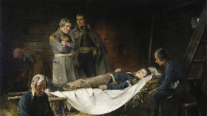 Schjerfbecks målning, Wilhelm von Schwerins död från år 1886
