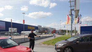 Ikea i Västerås där två personer knivhöggs i augusti 2015.