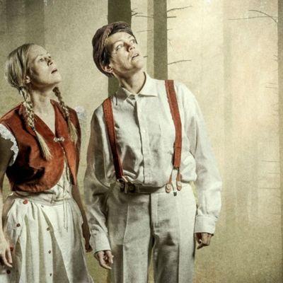 Hans och Greta eller Hannu ja Kerttu i skogen.