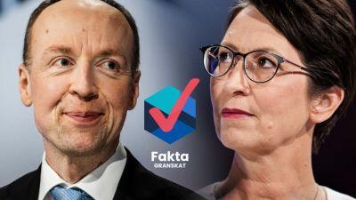 Partiledarna Jussi Halla-Aho och Sari Essayah