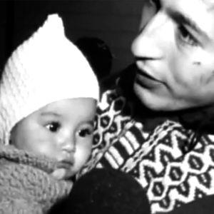 Chileläismies lapsensa kanssa Seutulassa 9.12.1973.