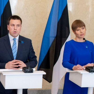 Viron pääministerin Jüri Ratas ja presidentin Kersti Kaljulaid.