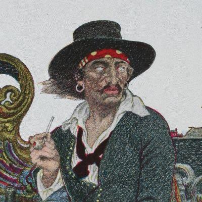 målning av sjörövaren kapten Kidd