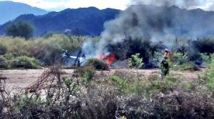 Tio personer, bland annat tre franska toppidrottare dog i en helikopterolycka i Argentina.