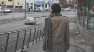 kvinna på gatan