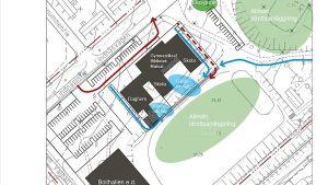 Karta över det planerade nya skol- och servicecentrumet i Svartå.