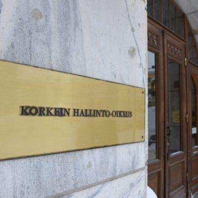 Korkein hallinto-oikeus Helsingissä 18. tammikuuta 2016.