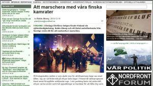 Kuvakaappaus Ruotsin Vastarintaliikkeen netisivulta