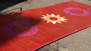 Camillas matta med symmetriskt mönster