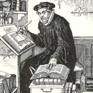 Mikael Agricola (teckning av Albert Edelfelt)